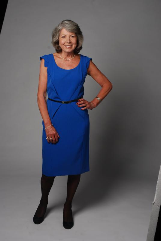 Janie Wellborne blue dress f.l.