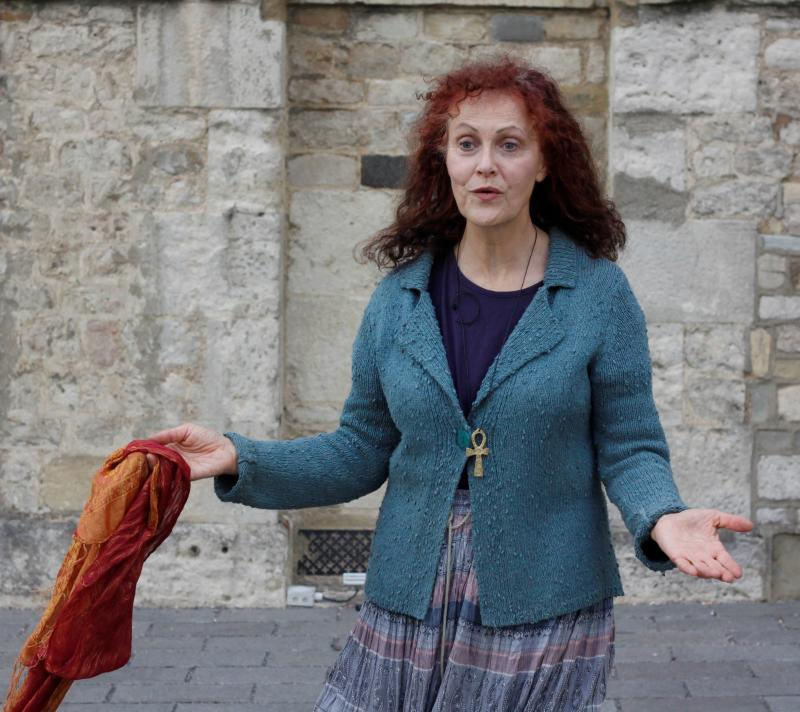 As Aemilia in Shakespeare's Comedy of Errors - outdoor performance at Oxford Castle