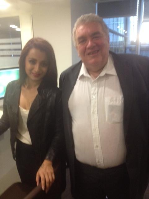 With Bollywood star Trisha