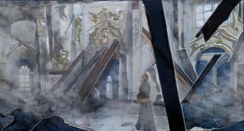 Final Curtain for the Tsars - Concept Visual. My own theatrical adaption of the Romanov Tragedy, based in a derelict Russian Palace.