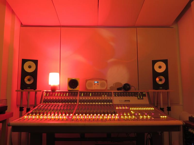 Audient 24 channel analogue mixing desk