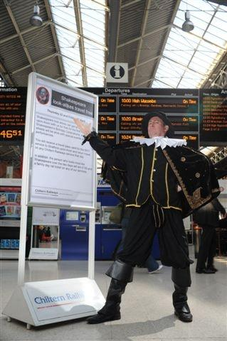 Shakespearean Actor at Station