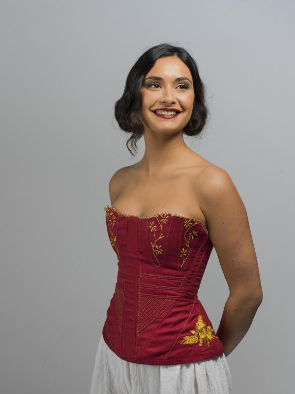 Regency/Snow White embroidered Corset