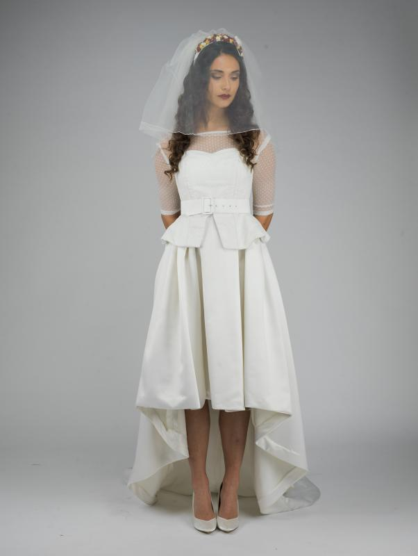 Contemporary/50's influenced wedding dress (front)