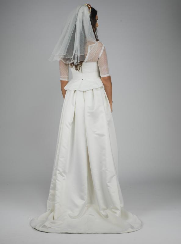 Contemporary/50's influenced wedding dress (back)