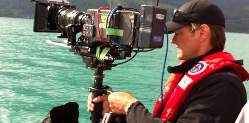 Steadicam Sachtler Artemis Cine on a boat