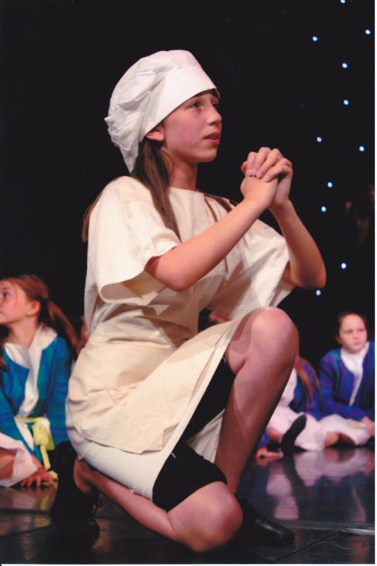 Abbie as the 'Baker' in Joseph and the Amazing Technicoloured Dreamcoat
