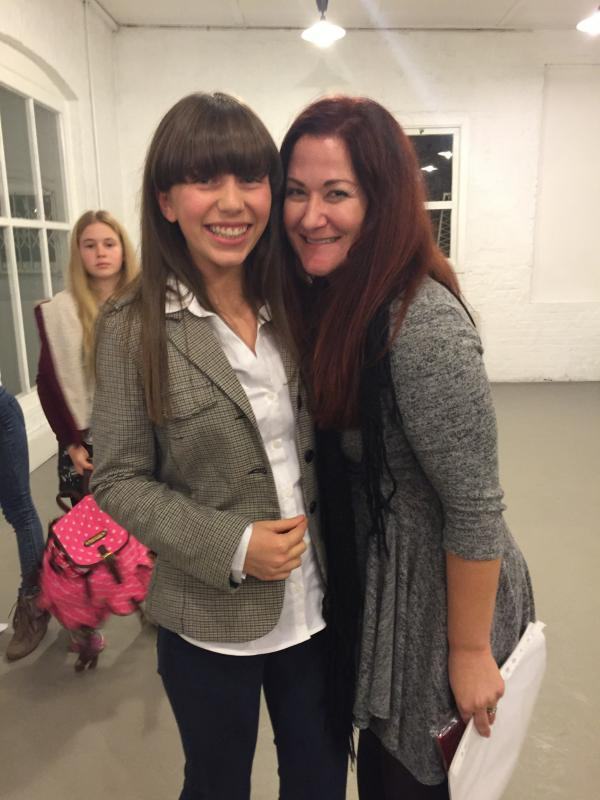 Abbie with Wendy Faraone at the Sit Com Acting Workshop