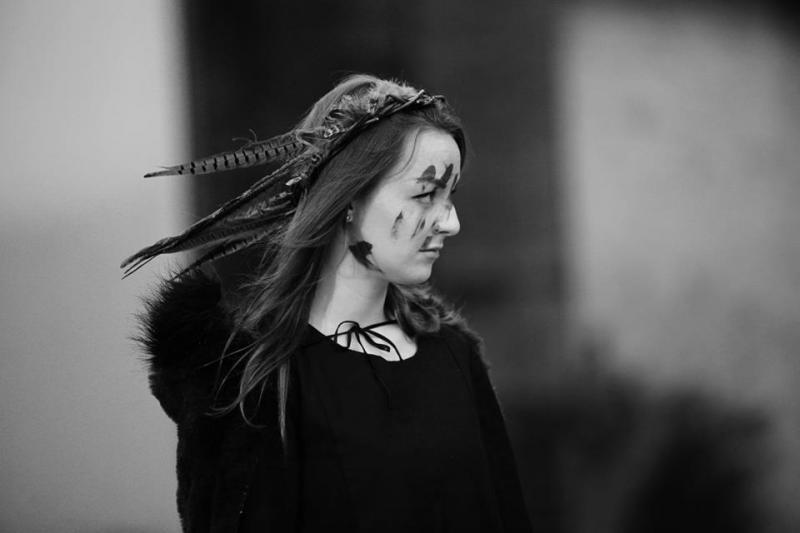 As First Wyrd Sister in 'Macbeth'