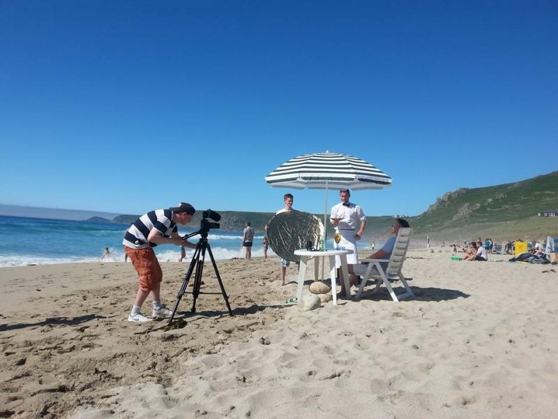 Rupert shooting Stella Artois commercial