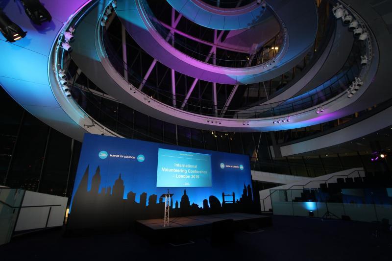 Mayor of London - City Hall Awards. Silhouette Set Lighting.