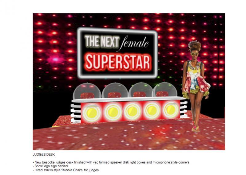The Next Female Superstar - Design pitch judges area