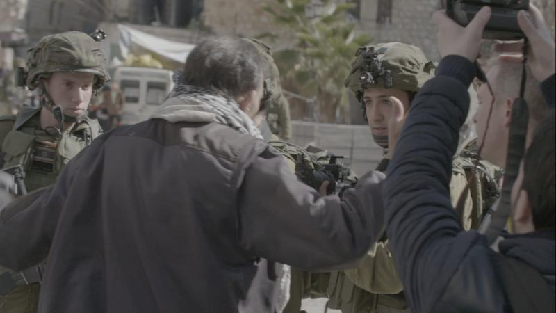 Screen shot from West Bank riot