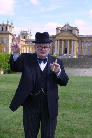 Churchill at Blenheim