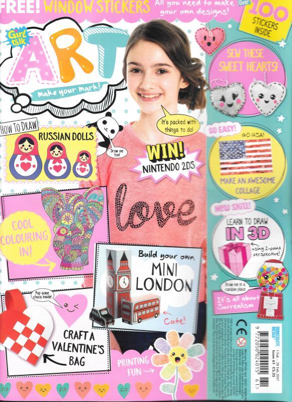 Girl Talk Art Magazine Cover