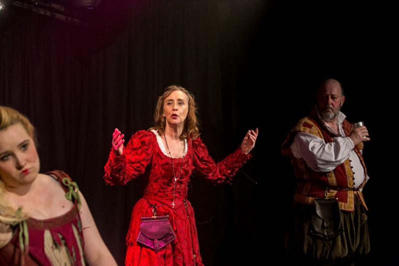 As Mistress Quickly in Go Forth with the Shakespearience