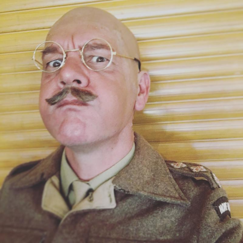 Captain Mainwaring in a stage production of Dad's Army