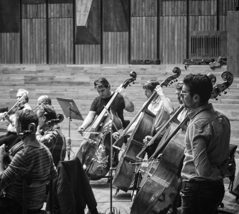 Recording with the Bratislava Symphony Orchestra