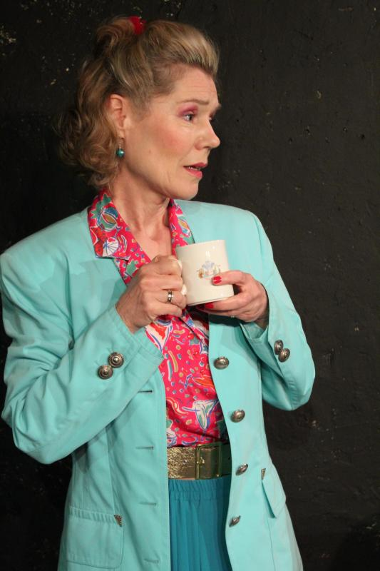 Vicky Barwell in Something for the Men, Barons Court Theatre, 2016