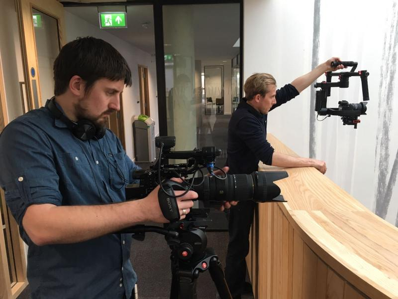 Corporate filming with the FS5