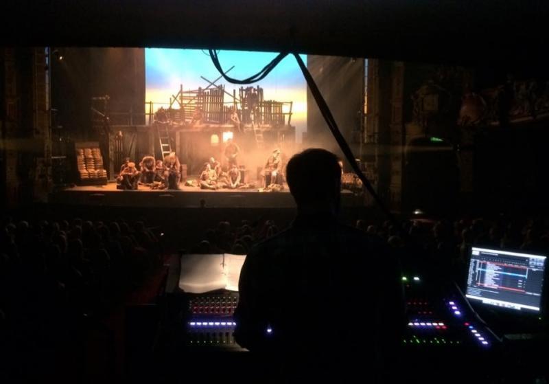 Charlie Simpson mixing Brass - Hackney Empire 2016