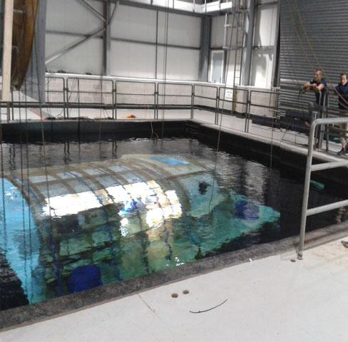 Pinewood underwater tank