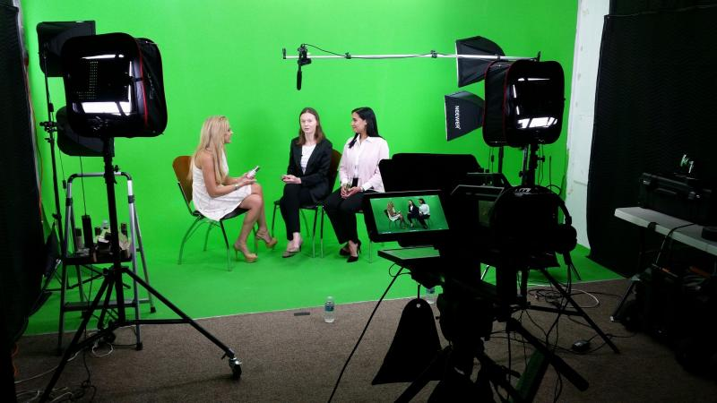 Shooting in our green screen studio