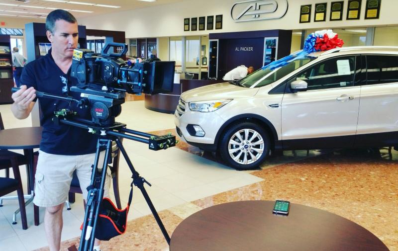 Shooting a Ford dealership TV commercial