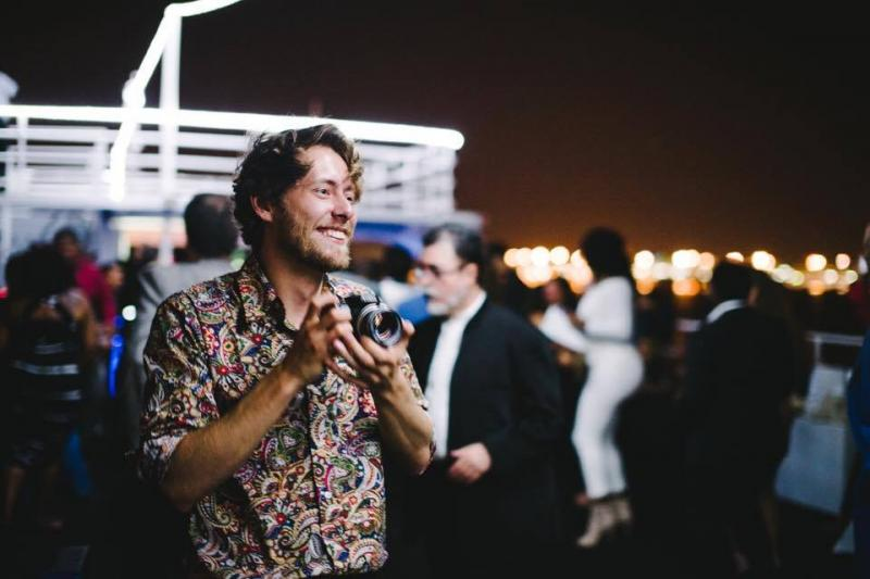 On a yacht for Wide Screen Film Festival, Miami