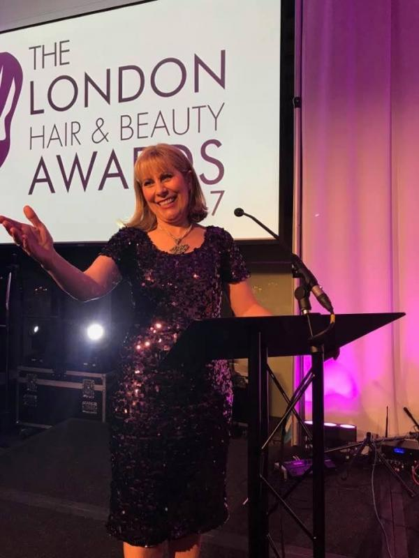 Hosting at The London Hair and Beauty Awards