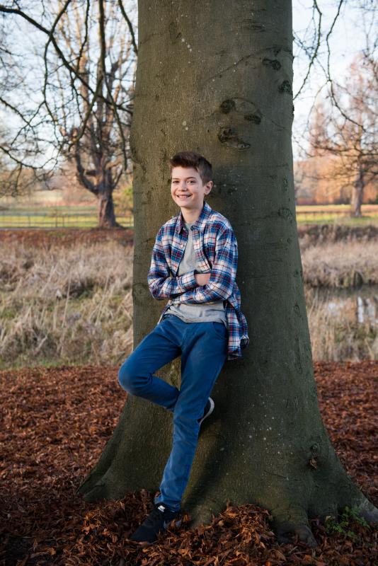 Evan aged 13
