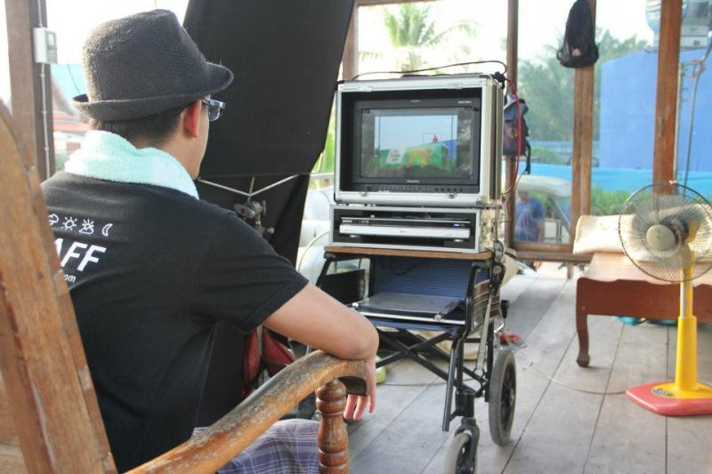 The director on commercial set 2012