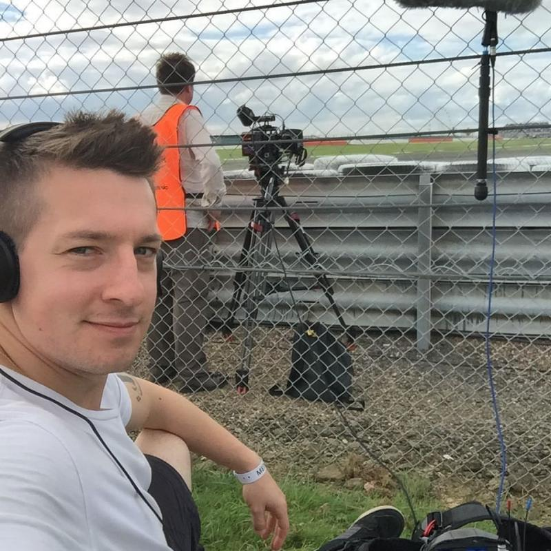 Working filming a silverstone classic