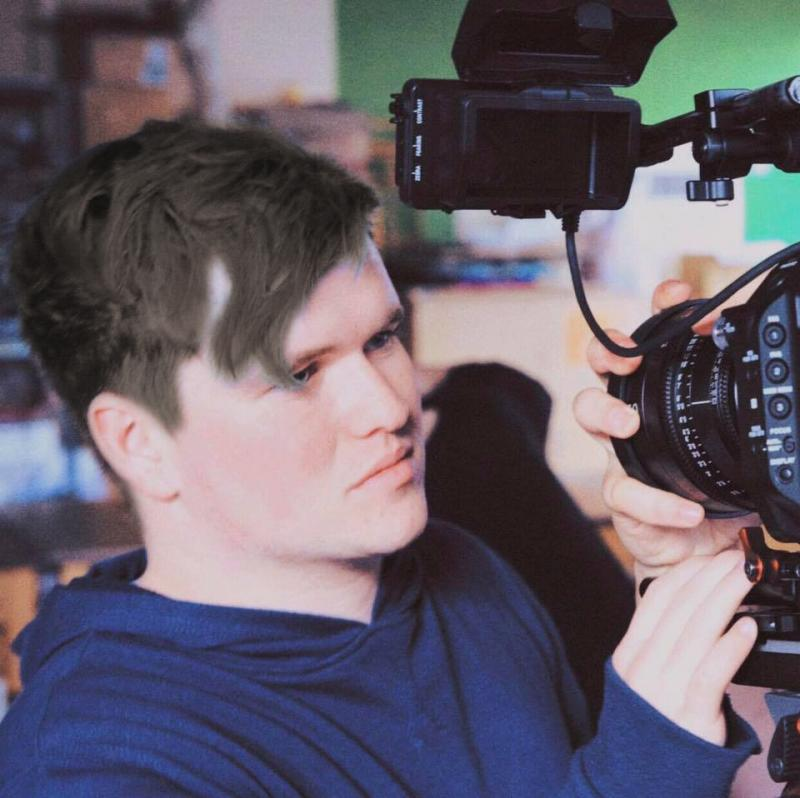 Camera assisting with Sony FS7 during the filming of 'The Drowning of Arthur Braxton' in Gloucestershire.