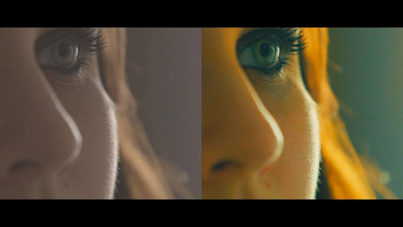 "Before and After Color Correction in ""Falling"""