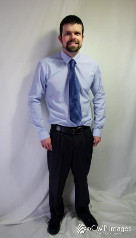 Full body shot, shirt & tie
