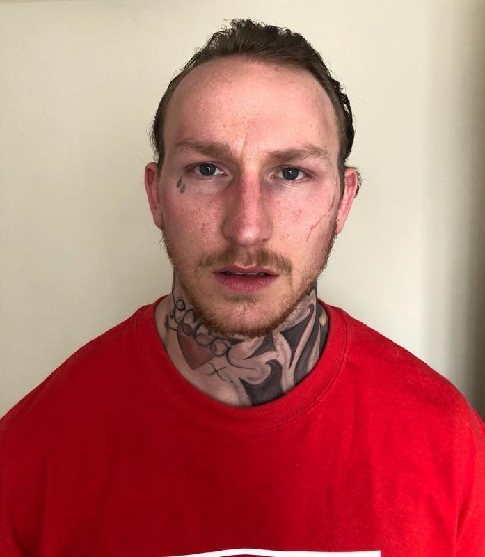 Tattooed thug look