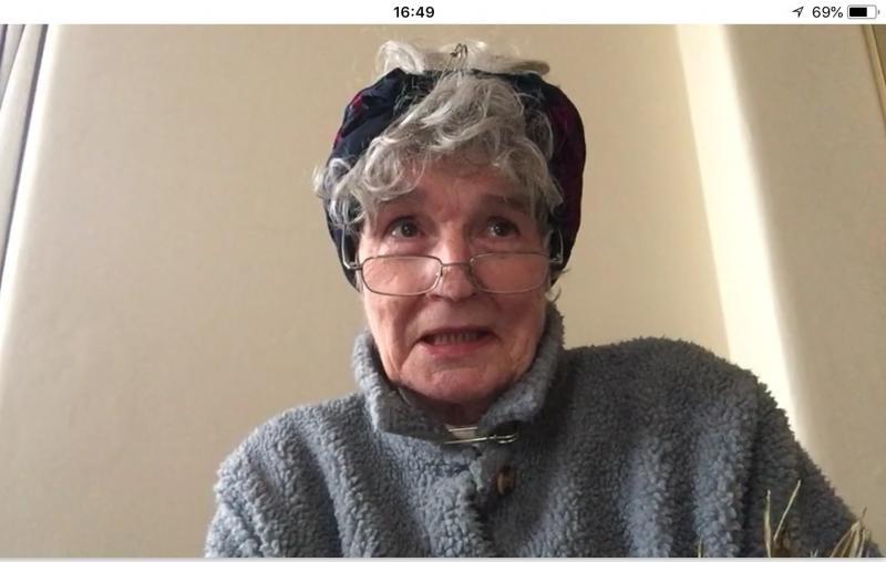 Eccentric old lady