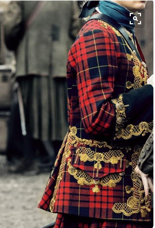 Still from Outlander Season 2, Costume design By Terry Dresbach.