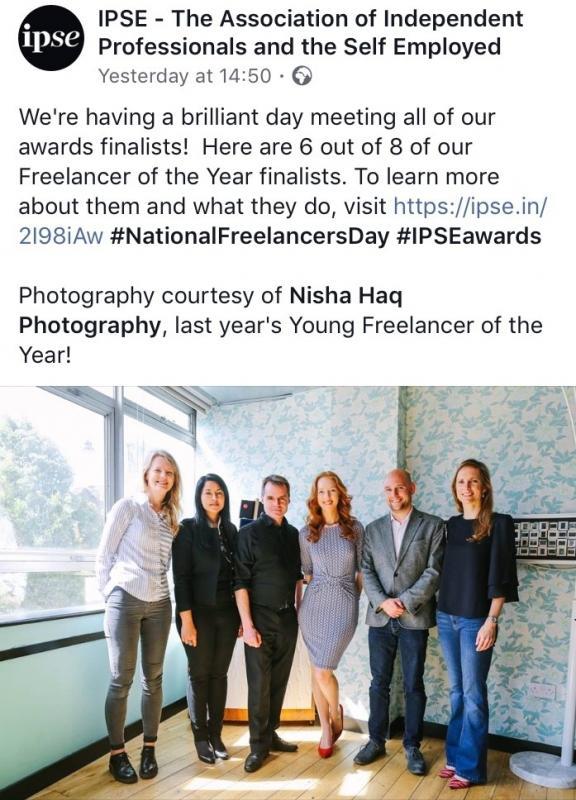 IPSE Finalist: Freelancer of the Year