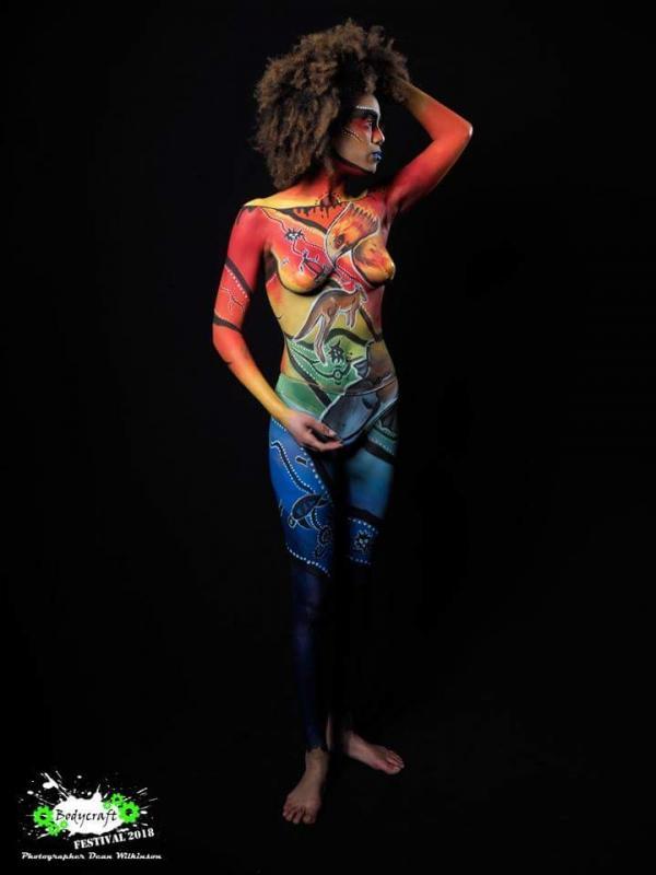 Bodyart by Liz Barnes for Bodycraft Festival, 2018