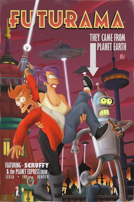 Futurama - pulp magazine