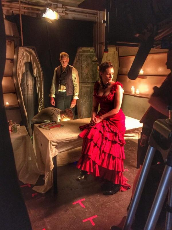 Behind The Scenes as 'The Widow' in Death And The Widow