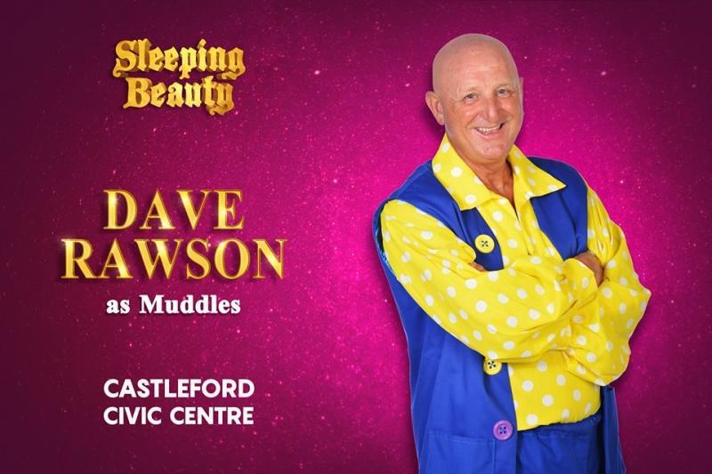DAVE RAWSON AS MUDDLES IN SLEEPING BEAUTY 2018 CASTLEFORD