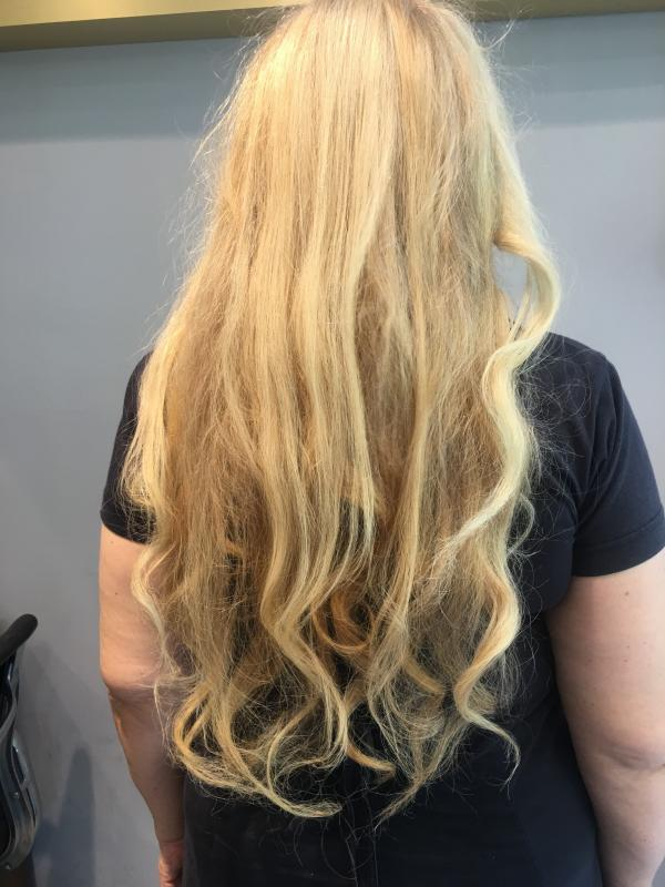 Anette Pollner, back with natural hair
