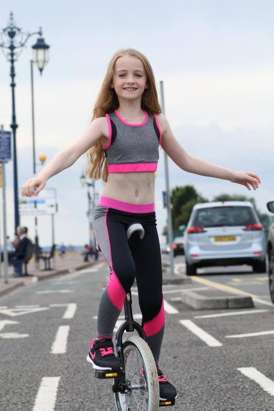 Unicyclist ITV THIS TIME NEXT YEAR