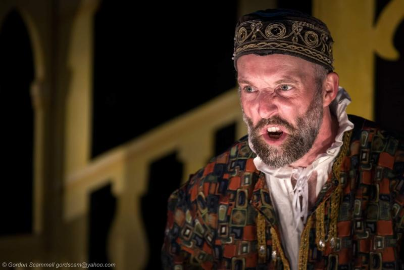 David Sayers as Shylock in 'The Merchant of Venice'.