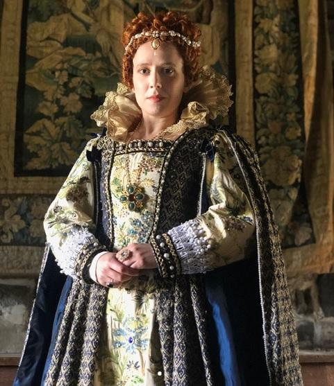 Monica Nash playing Elizabeth I in TV drama 'The Reformation'. Copyright Liam Driver.