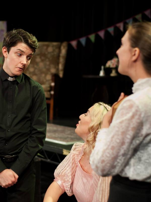 Dr Chasuble reminds Cecily of the importance of her studies - The Importance of Being Earnest