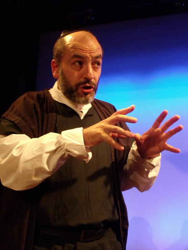 """As Shylock in """"The Merchant Of Venice"""""""
